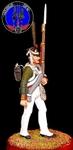 Рядовой гвардейских пехотных полков 1812 г.Россия