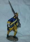Шведский мушкетер пехотных полков на марше 1700-21 гг