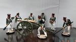 Русская артиллерия ( Набор 7 фиг.+ пушка )