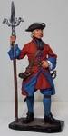 Канонир Артиллерийского плк. с пальником, 1704-25гг. Россия
