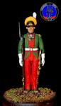 Обер офицер мушкетерского полка Россия 1786-1796 гг