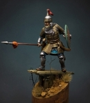 Татаро-монгольский воин с копьем 14 в