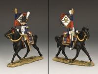 Армия Наполеона офицер с полковым гидоном