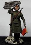 Военная регулировщица, ефрейтор Красной Армии. 1945. СССР